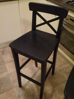 3 black Ikea Ingolf stools  Coogee Eastern Suburbs Preview