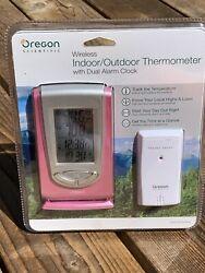 Oregon Scientific Wireless Indoor/Outdoor Digital Thermometer & Dual Alarm Clock