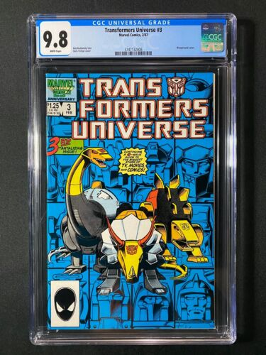 Transformers Universe #3 CGC 9.8 (1987)