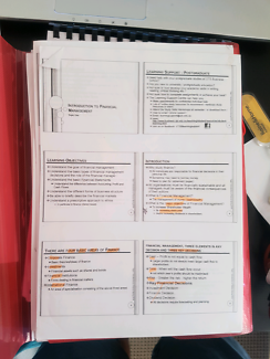 Financial Management All Notes for UTS