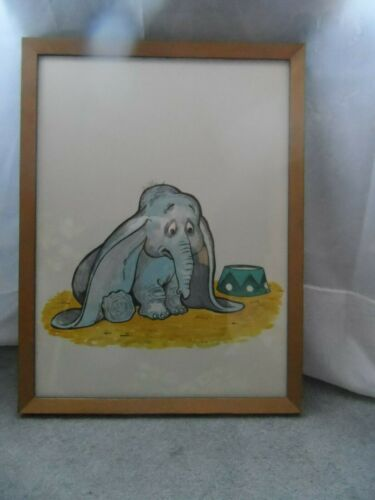 Disney Art Hand Painting Dumbo Wall Picture for Kids Room Decor Framed