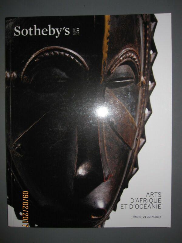Sotheby 6/21/17 antique African Tribal & Oceanic figures & masks
