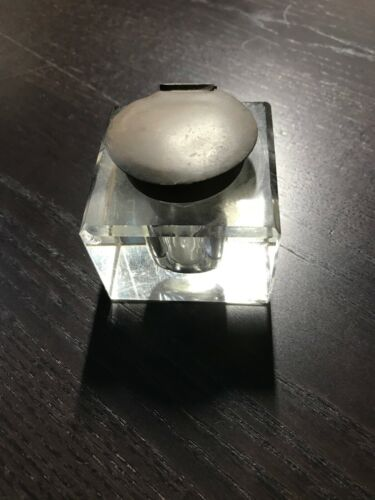 Turn Of The 20th Century Antique Inkwells (2x)