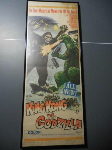 1963 King Kong Versus Godzilla Original Insert Poster Framed