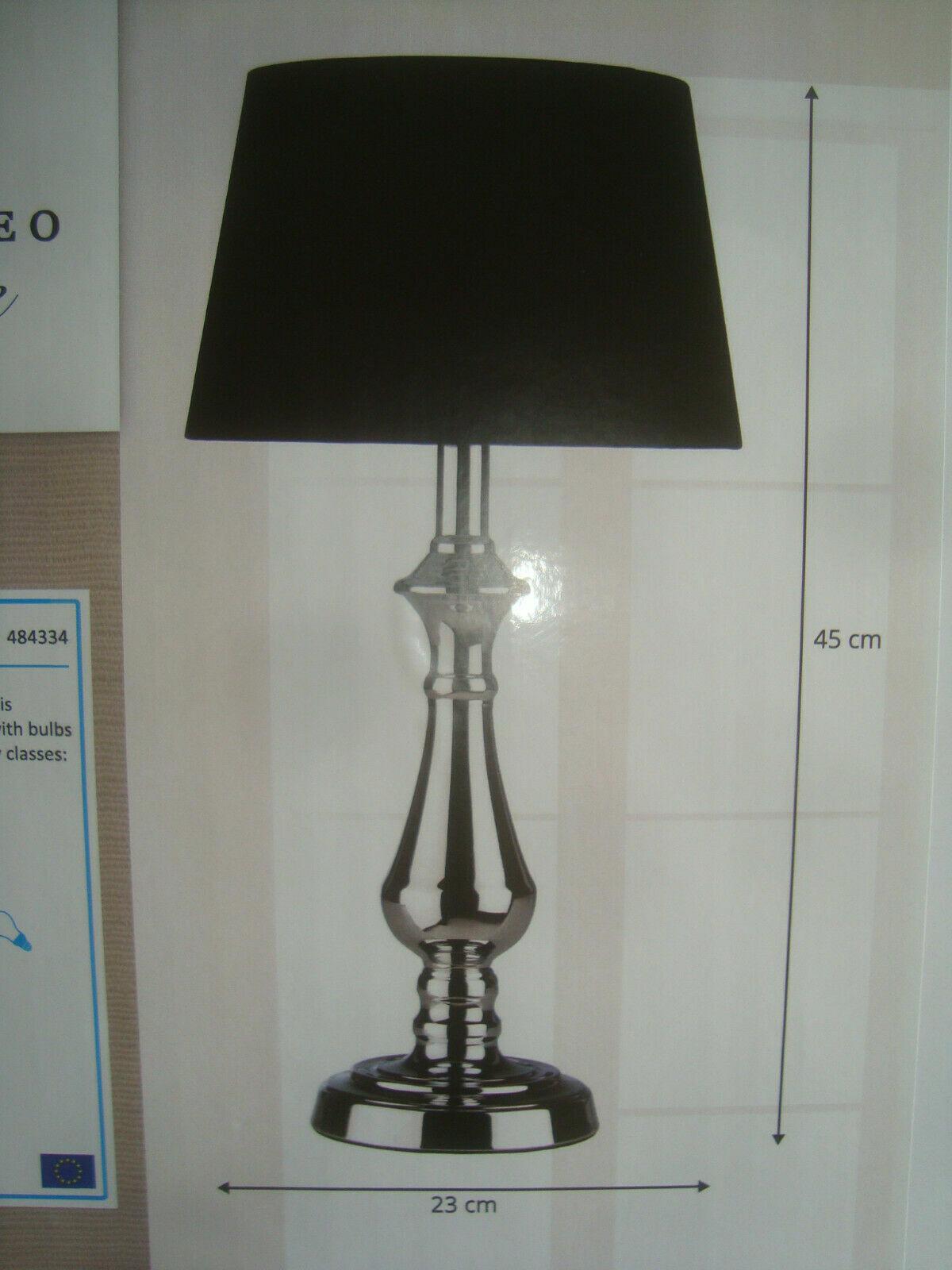 Lumineo Lampe weiß schwarz Leuchte Tischlampe Nachtlampe Stehlampe 45 cm NEU