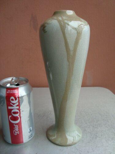 "Owens Lotus Arts  & Crafts Scenic 9.5"" Tree Vase"