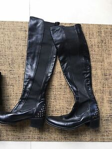Leather boots made in Italy 38 high leg Bridgewater Adelaide Hills Preview