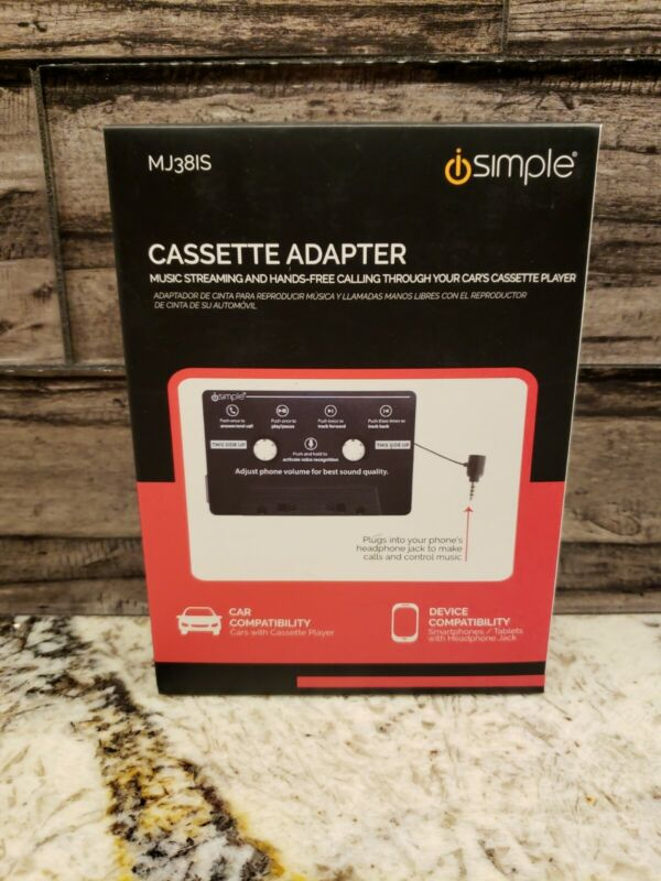 iSimple Cassette Adapter Music Streaming Hands Free Calling Through Car Player