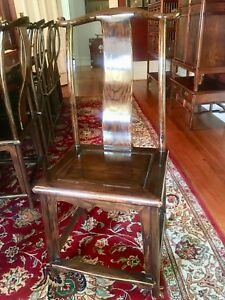Antique large dining table and chairs (12)