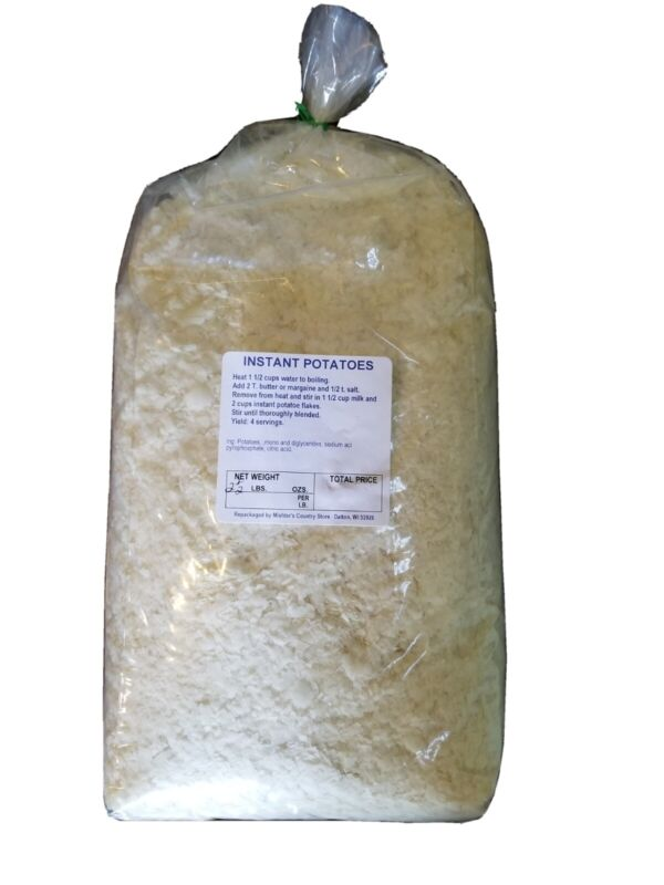 Instant Dehydrated Potato Flakes, Bulk 2.5 Lb. Bag Amish Packed. Grown in USA