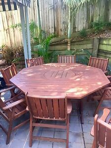9 piece solid timber outdoor dining setting Sandgate Brisbane North East Preview