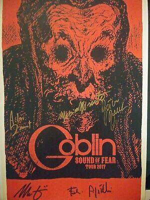 SIGNED GOBLIN sound of fear 2017 Tour CONCERT Print POSTER Suspiria HALLOWEEN