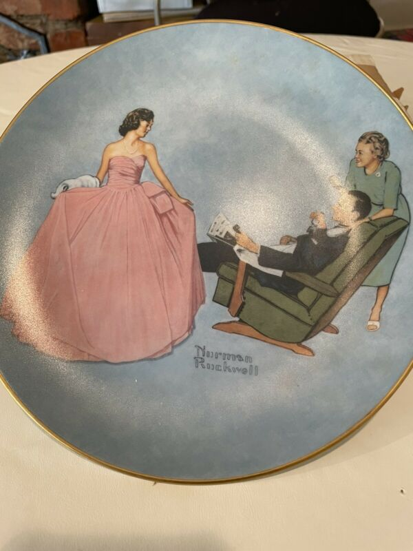 Collectible Plates Sweet Sixteen, Norman Rockwell. Excellent condition.