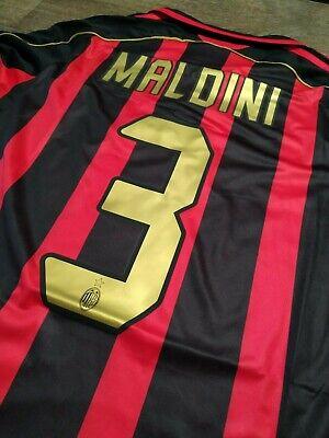 MAGLIA VINTAGE MILAN 2006/2007 MALDINI N3 CHAMPIONS LEAGUE TAGLIA L MANICA LUNGA