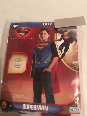 Halloween Costume Boys Superman Size Large 10-12 New](Superman Costumes For Boys)