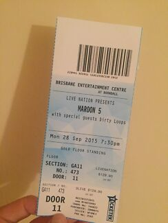 X1 Maroon 5 ticket Brisbane  Robina Gold Coast South Preview