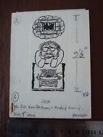 Original Self Portrait Frustrated Author Artwork .. Pen & Ink Orig 20th C Illus, -  - ebay.co.uk