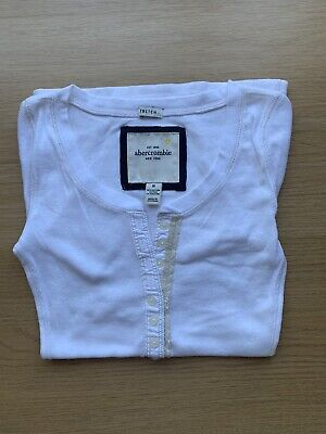 Abercrombie White T-Shirt Size M
