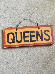 Queens university sign