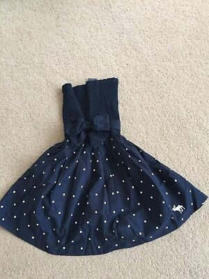 NWT Abercrombie & Fitch Women Polka Dots Dress Navy Size Medium for sale  Shipping to India