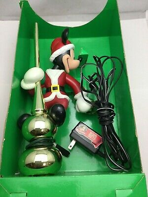 Vintage 1995 Disney Mr Christmas Mickey Mouse Lighted Lantern Tree Topper WITH O