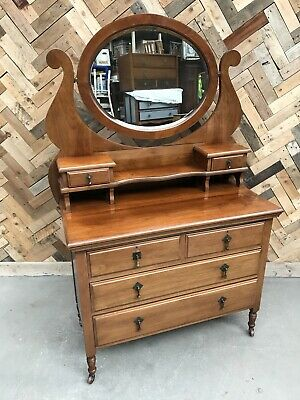 Victorian Style Swing Mirror Dressing Table