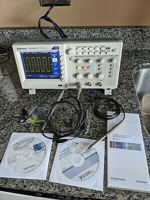 Tds2012c Tektronix 100mhz 2 Channel Digital Oscilloscope With Manual And Probes