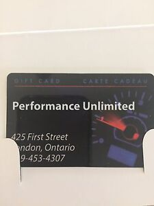 Gift Card for Performance Unlimited