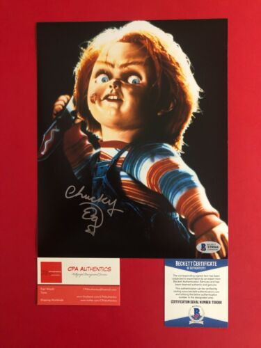 Ed Gale Hand Signed Chucky 8x10 photo Childs Play With BAS COA