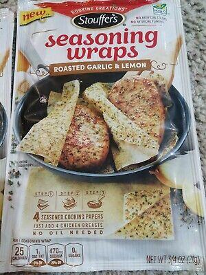 3 Stouffers Seasoning Wraps Roasted Garlic & Lemon, best by