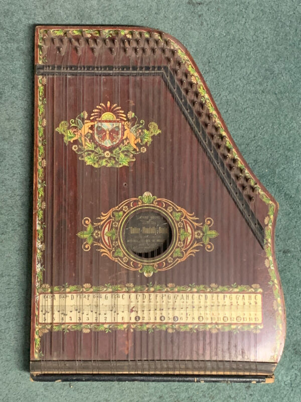 ANTIQUE AUSTRAL SCHOOL OF MUSIC Zither 1930 Musical Instrument Made In Germany
