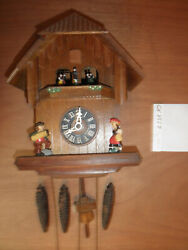 Cuckoo Clock German Black Forest working SEE VIDEO Musical Chalet 1 Day CK2557
