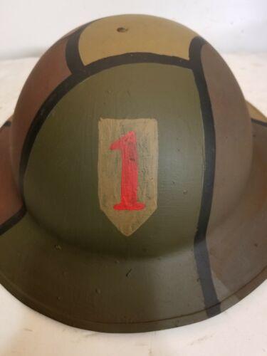 World War I US M1917 Doughboy Camo helmet - repro
