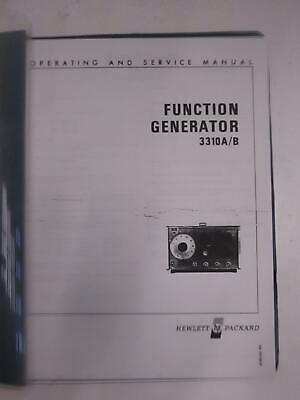 Hp 3310ab Function Generator Operating And Service Manual Used
