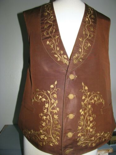 MENS WAISTCOAT VEST STUNNING  FLORAL EMBROIDERY C.1830