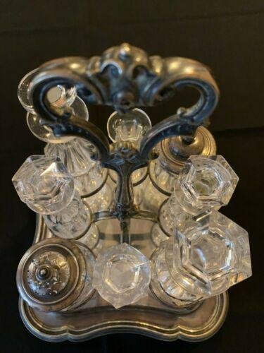 Victorian Antique Silver Plate Cruet/Condiment Tray made by Elkington & Co.!