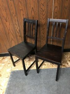 6 Wooden IKEA Stephan chairs.
