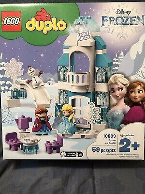 NEW! LEGO DUPLO 10899 Disney Frozen Ice Castle Princess Anna/Elsa/Olaf 59pc Set