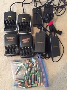 Battery chargers and rechargeable batteries