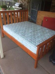 Double bed + mattress + side tables Bellbird Park Ipswich City Preview