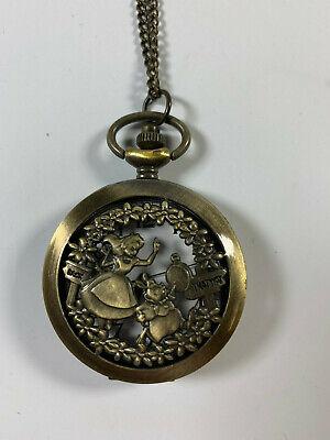 Disney Park Authentic Necklace Kingdoms Castles Peter Pan Big Ben Pocket Watch