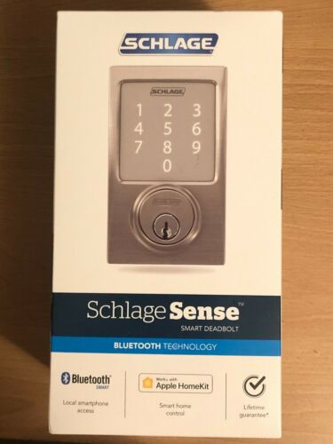Schlage Sense Century Smart Door Lock - Satin Nickel BE479AA V CEN 619