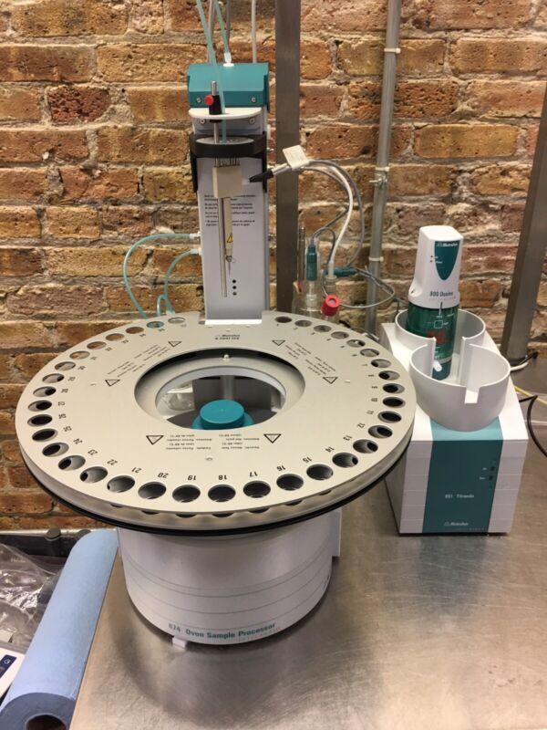 Metrohm 874 Oven Sample Processor With 851 Titrando Dosino Titrator Cannabis