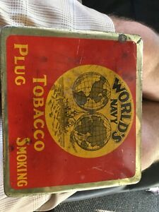 Worlds navy tobacco tin