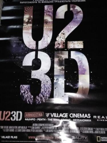 U2 3d  film vintage original promo poster Greece 2008