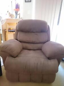 Chocolate Brown fabric soft lounge set -2 recliner +3 seater Riverhills Brisbane South West Preview