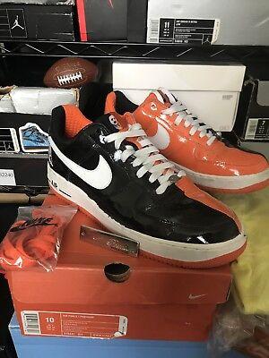 2005 Nike Air Force 1 Premium HALLOWEEN BLACK ORANGE WHITE 313641-011 Size 10
