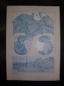 Alfons MUCHA figures décoratives Planche N° 38 - France - Type: Lithographie Authenticité: Original Genre: Art Nouveau - France