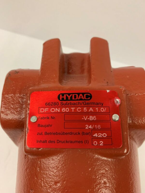 Hydac DF ON 60 TC 5A Pressure Filter DF for Reversible Oil Flow 420 Bar