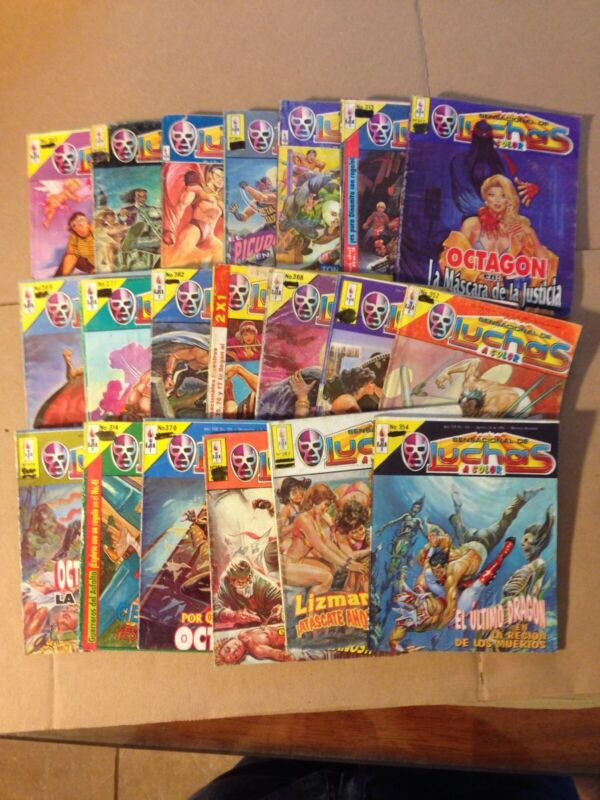 Sensacional De Luchas A Color Mexican Comic, Spanish Lot Of 20